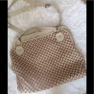 Handbags - Woven front handbag
